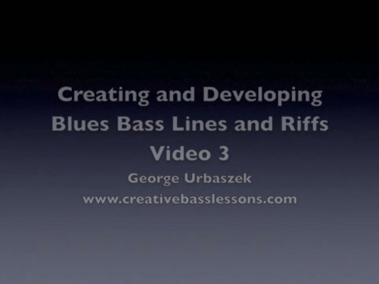 Product picture How to Create Blues Bass Lines and Riffs - Video 3